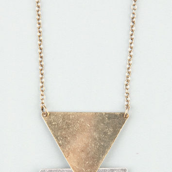 FULL TILT 3 Laddered Triangle Necklace 205647191   Necklaces