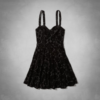 Mandy Velvet Skater Dress