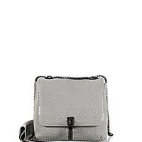 Elizabeth and James - Cynnie Mini Bubble-Leather Double Shoulder Bag - Saks Fifth Avenue Mobile