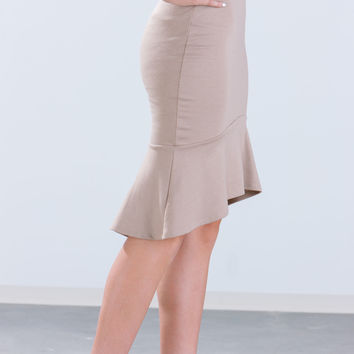 Flared Mermaid Cut Skirt