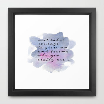it takes courage Framed Art Print by Sylvia Cook Photography
