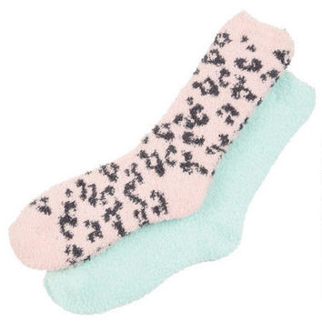 Leopard Cozy Socks