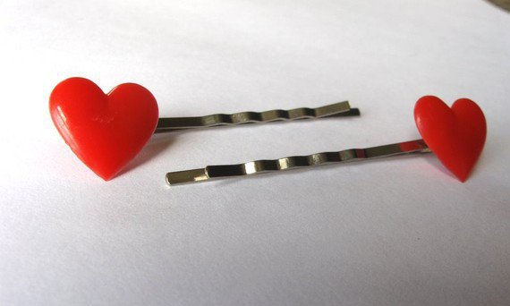 Vintage Heart Hair Pins