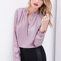 Sheer Metallic Blouse