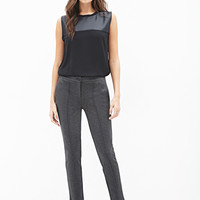 LOVE 21 Topstitched Knit Pants Charcoal
