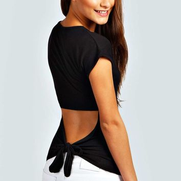 Dawn Open Knot Back Tee