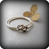 Friendship knot rings - best friends rings in sterling silver and gold filled