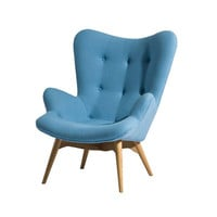 Paddington Lounge Chair in Sky Blue