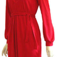 Hot  Red Vintage 70s Disco Dress