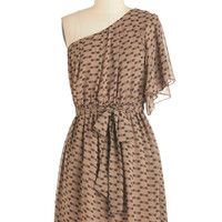 ModCloth Boho Mid-length One Shoulder A-line Come Dragonfly with Me Dress