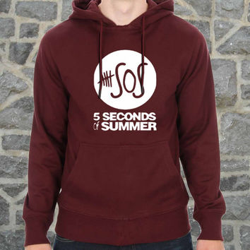 5 seconds of summer t shirt 5 sos music hoodie multiple color for size s - 3xl