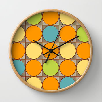 Squared Circles Wall Clock by Texnotropio | Society6