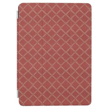 Red Square Pattern Fabric iPad Air Cover