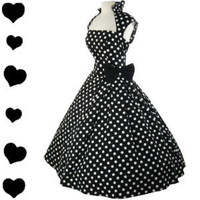 POLKA DOT Rockabilly 50s FULL SKIRT Swing Dress S - 3X - eBay (item 300571298867 end time Jul-24-11 19:04:37 PDT)