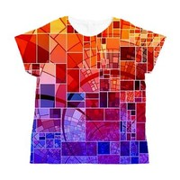 Mosaic in mosaic red Women's All Over Print T-Shir> Mosaic in Mosaic red> MehrFarbeimLeben