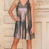 Black & Gold Tank Dress