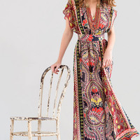 Harper Paisley Dolman Maxi Dress