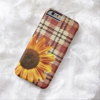 rustic girly western country plaid sunflower iPhone 6 case