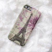 shabby chic eiffel tower purple vintage floral iPhone 6 case
