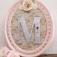 Pink Nursery Decor Baby Girl Nursery Decor Wooden Nursery Letters Shabby Chic Nursery Hanging Wall Letters