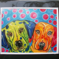 Seeing Spots 8x10 signed print 11x14 matting