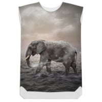 May the Stars Carry Your Sadness Away (Elephant Dreams) Shift Dress created by soaringanchordesigns | Print All Over Me