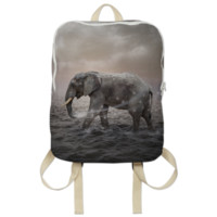 May the Stars Carry Your Sadness Away (Elephant Dreams) Backpack created by soaringanchordesigns | Print All Over Me