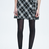 Cooperative Tartan A-Line Skirt in Mono - Urban Outfitters