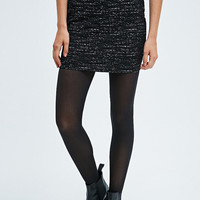 Sparkle & Fade Abstract Text Pull-On Skirt in Black - Urban Outfitters