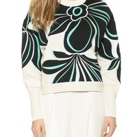 3.1 Phillip Lim Floral Embroidered Pullover