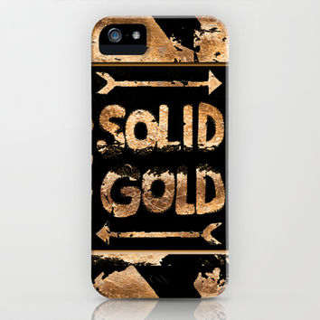 Solid Gold iPhone & iPod Case by Nina May Designs
