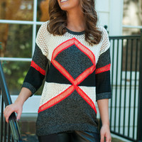 X Marks The Spot Sweater, Black