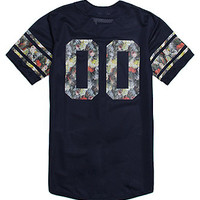 On The Byas Byron Mesh Baseball Jersey - Mens Tee - Blue