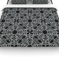 Kess InHouse Miranda Mol 'Optical Fest' 88 by 88-Inch Duvet, Queen