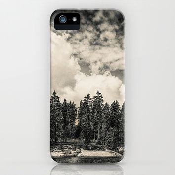 Far Away Clouds Passing By  iPhone & iPod Case by Tordis Kayma