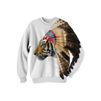 Fight For What You Love • Chief of Dreams: Tiger v.2 Unisex FALL Sweatshirt created by soaringanchordesigns | Print All Over Me