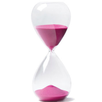 Hot Pink Sand Filled Hour Glass | Waiting On Martha