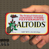 Iphone 4 case, Altoids design, custom cell phone case, Original design