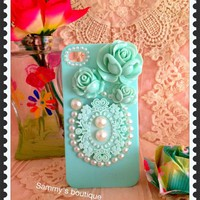 Rose, Lace And Pearl Iphone Case (b.. on Luulla