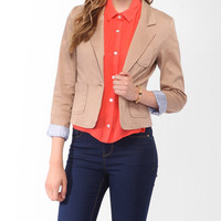 Striped Cuff Blazer