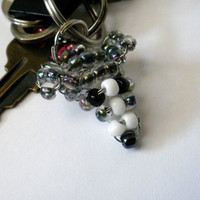 Greyhound Beaded Dog Keychain