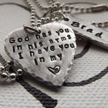 In God's Arms Personalized Necklace