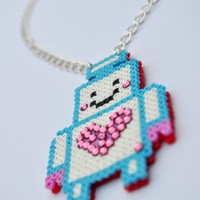 Little Robot Necklace on Luulla