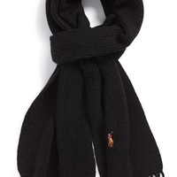 Men's Polo Ralph Lauren 'Classic Lux' Ribbed Merino Wool Scarf