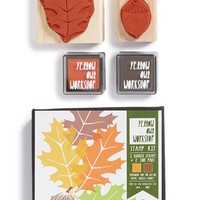 Yellow Owl Workshop Oak Leaf & Acorn Stamp Set