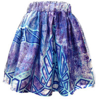 Blue Madeline Space Skirt | Shadowplaynyc | Space inspired clothing in nebula and galaxy prints