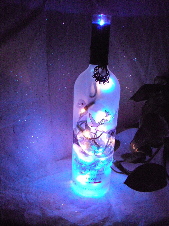 Gray Goose Lighted Wine Bottle