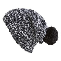 Junior Women's Capelli of New York Marled Knit Beanie - Black