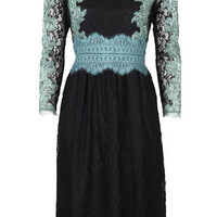 Placement Lace Midi Dress - Dresses - Clothing