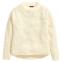 Textured-knit Sweater - from H&M